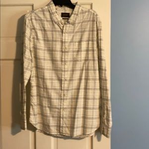 NWOT Jachs classic fit grey & white button up